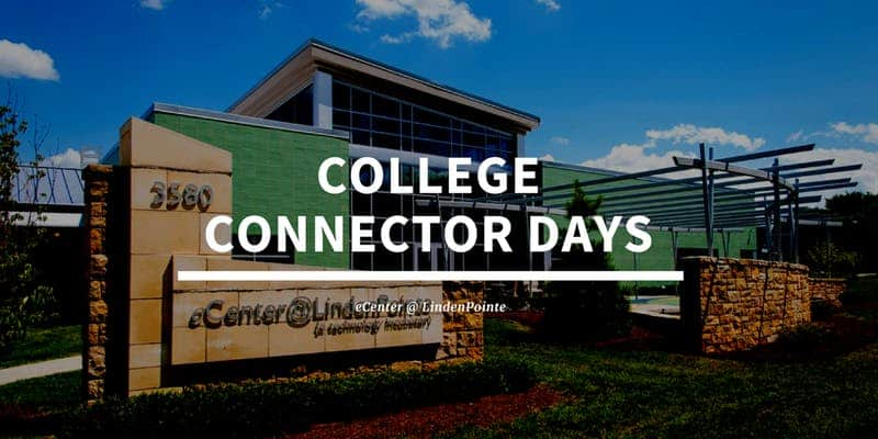ecenter with college connector days written