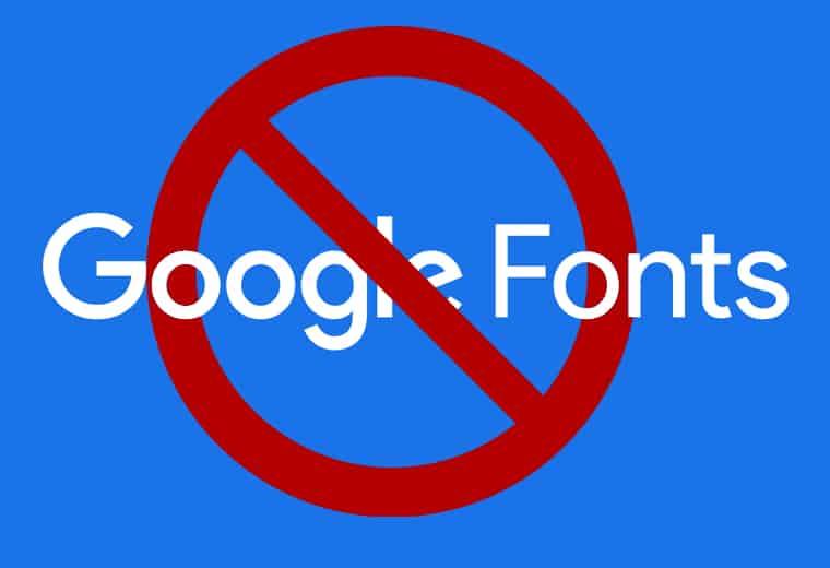 no google fonts