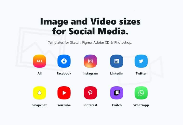 social sizes screenshot