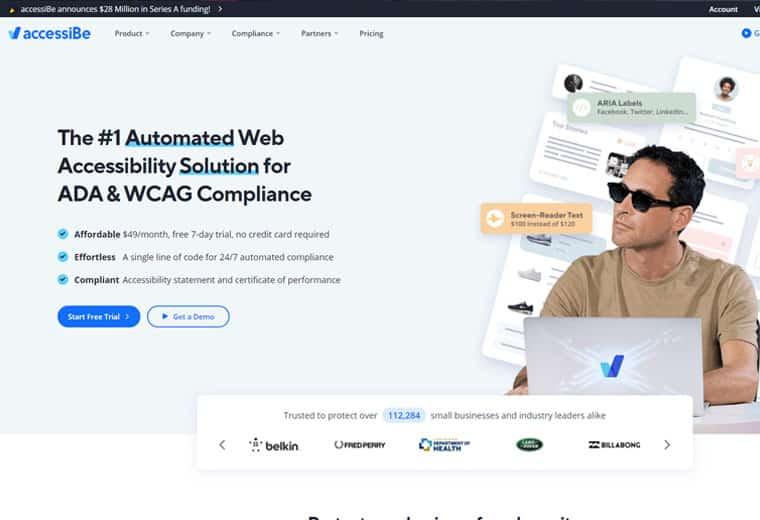 accessiBe screenshot