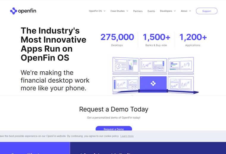 OpenFin screenshot