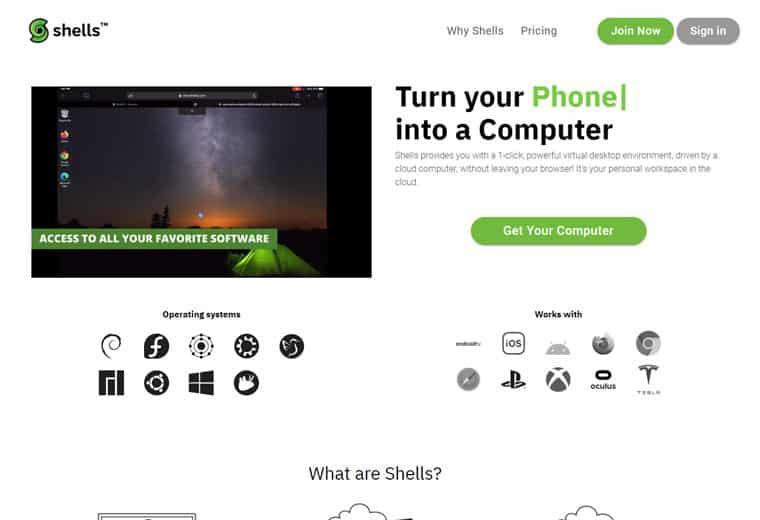 Shells VM screenshot