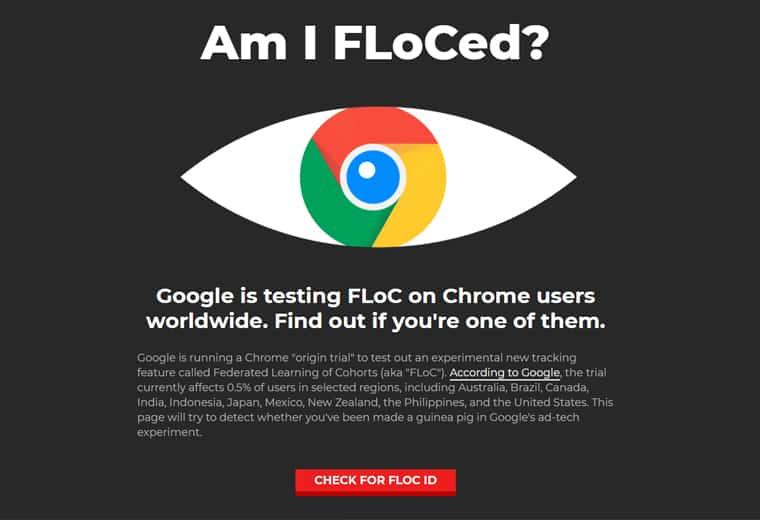google FLOC screenshot