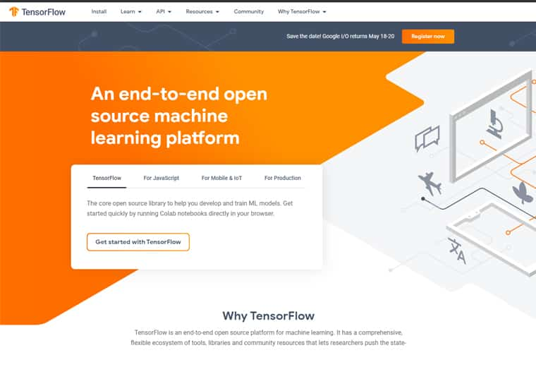 tensorflow screenshot