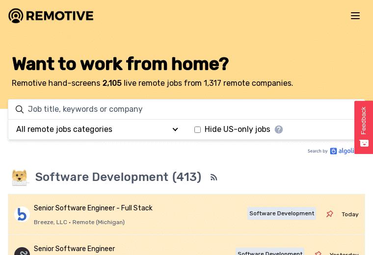 remotive screenshot